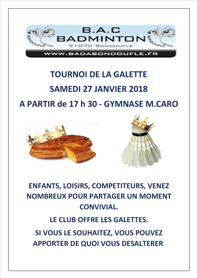 Tournoi galette
